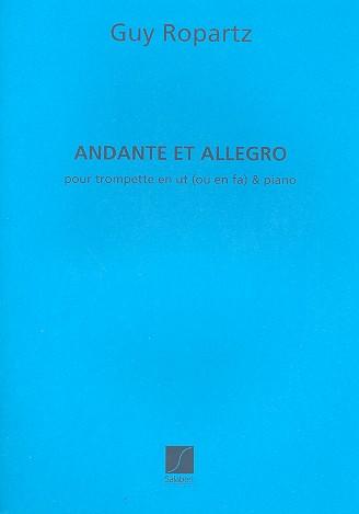 Andante et allegro: pour trompette avec accompagnement de piano