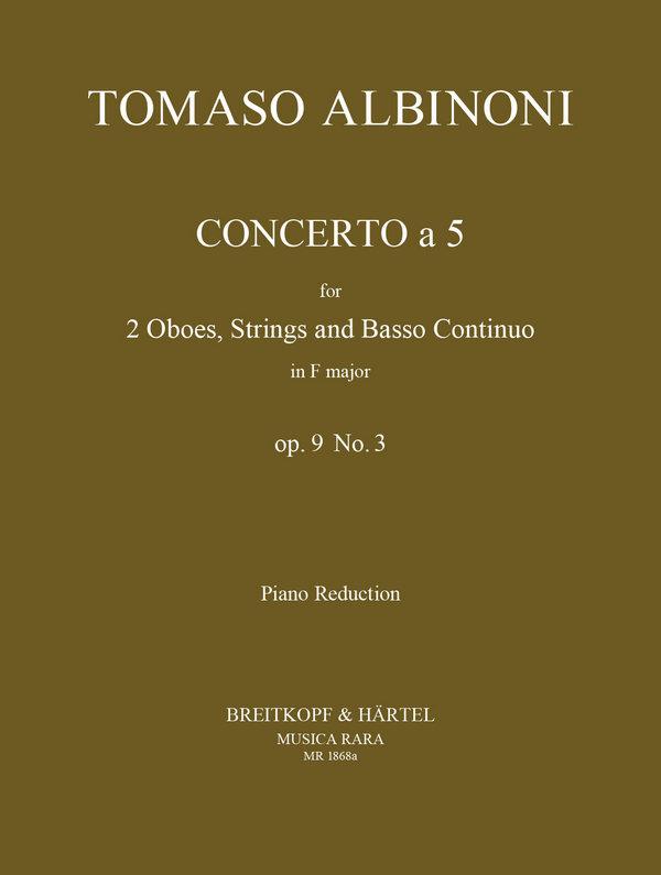 Albinoni, Tomaso - Concerto à 5 op.9,3 für 2 Oboen,
