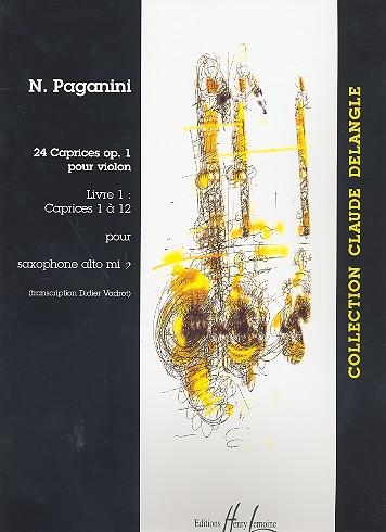 24 caprices op.1 vol.1 (nos.1-12): pour saxophone alto et piano