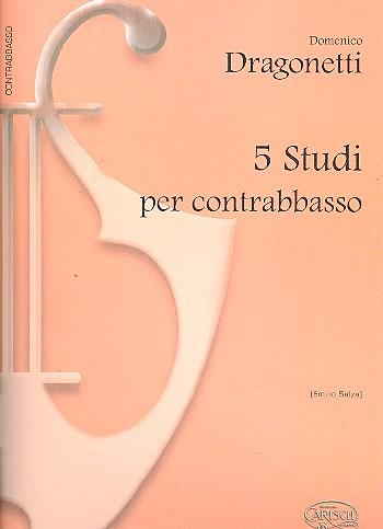 Dragonetti, Domenico - 5 studi : per contrabbasso