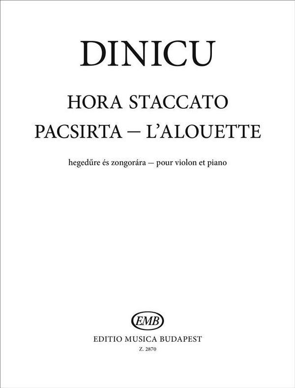Dinicu, Gregorias - Hora staccato : für Violine