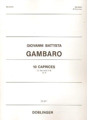 10 Caprices opus.9: für Klarinette