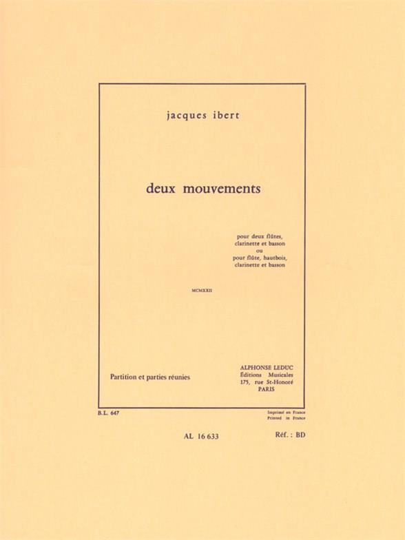 2 mouvements: pour 2 flutes (fl, ob) clarinette et basson