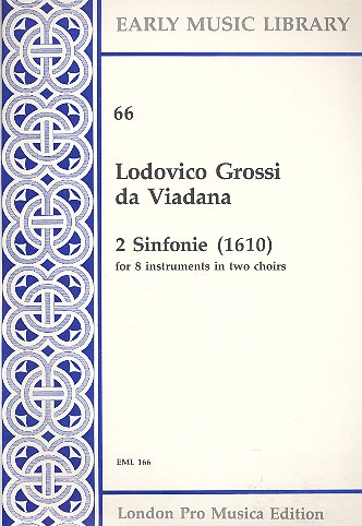2 sinfonie (1610): for 8 instruments in 2 choirs