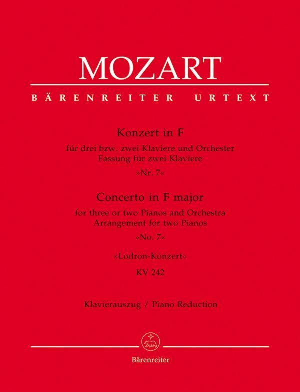 Mozart, Wolfgang Amadeus - Konzert F-Dur KV242 für 2 oder 3 Klaviere