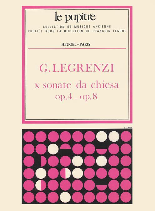 10 Sonate da chiesa op.4-8: pour 2 violons, violone et b.c.