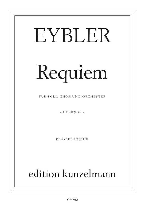 Eybler, Joseph von - Requiem : für Soli, Chor und