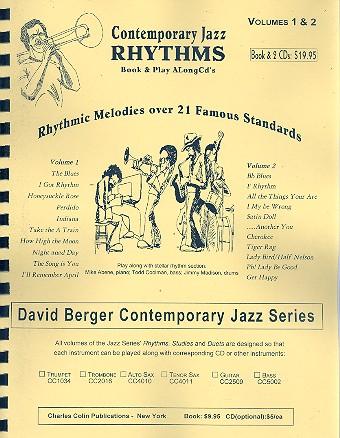 Berger, David - Contemporary Jazz Rhythms vols.1-2 (+2 CD's) :
