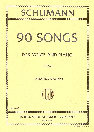 Schumann, Robert - 90 Songs : for low voice and piano