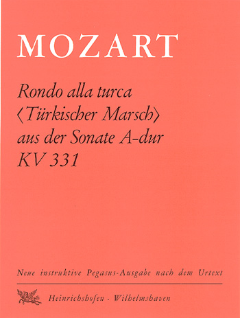 Mozart, Wolfgang Amadeus - Rondo alla turca : für Klavier