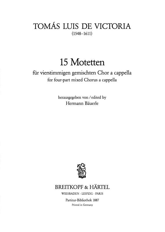 15 Motetten: für gem Chor Partitur (la)