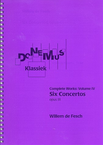 6 Concertos opus.3: for small orchestra score
