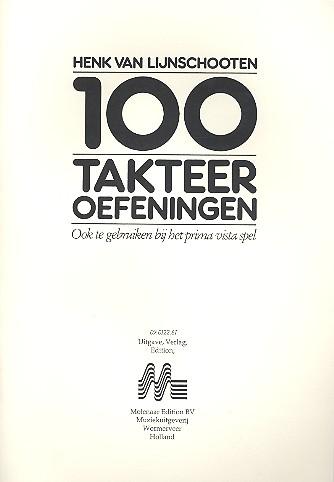 100 Takteer oefeningen