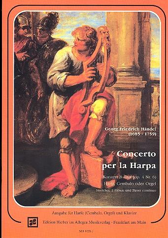 Konzert B-Dur op.4 Nr.6 für Harfe, 2 Flöten und Bc: für Harfe