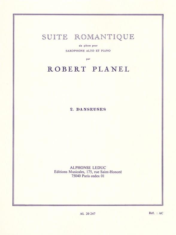 Planel, Robert - Danseuses : pour saxophone alto et