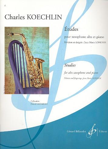 15 etudes: pour saxophone alto et piano