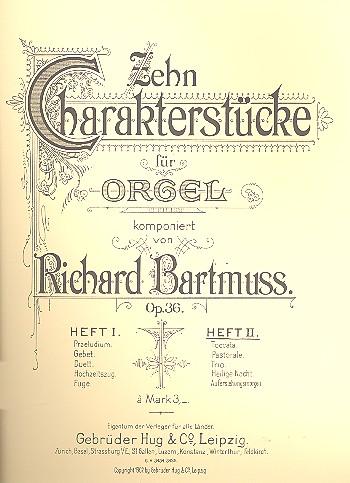 10 Charakterstücke opus.36 Band 2 (Nr.6-10): für Orgel