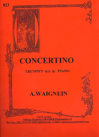 Concertino: pour trompette en ut ou sib et piano