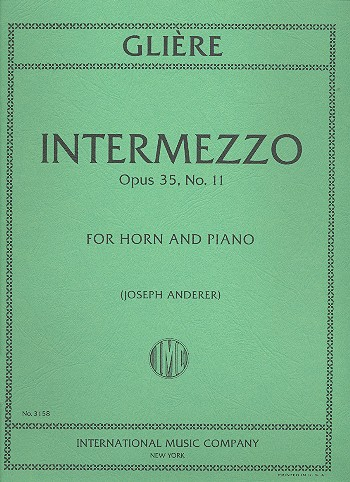 Glière, Reinhold - Intermezzo op.35,11 : for horn in F