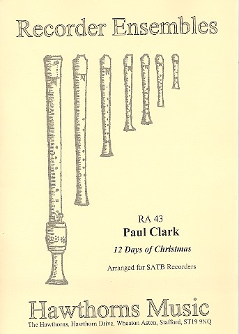 12 Days of Christmas: for 4 recorders (SATB)