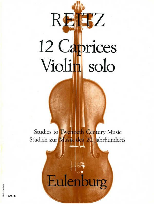 12 Caprices opus.3: für Violine solo