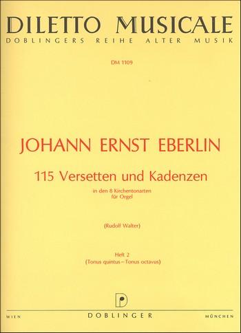 115 Versetten und Kadenzen: Band 2 8 Kirchentonarten für Orgel