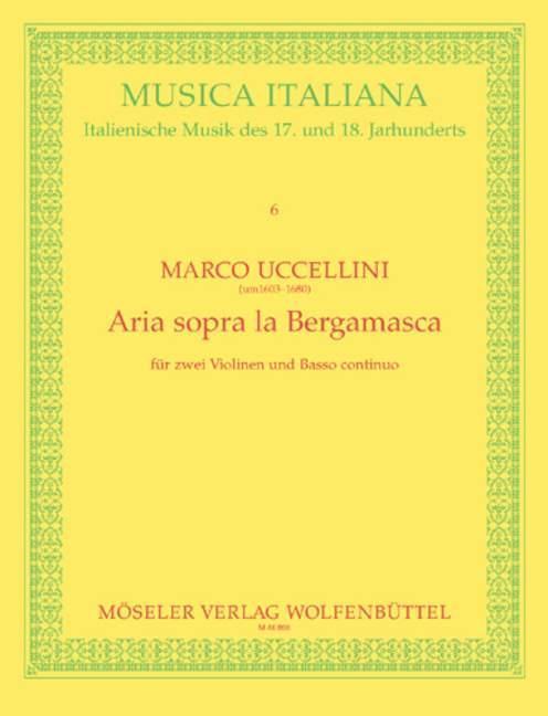 Uccellini, Marco - Aria sopra la Bergamasca :
