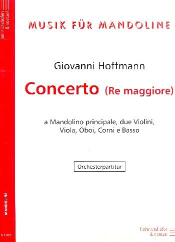 Konzert D-Dur: für Mandoline und Klavier