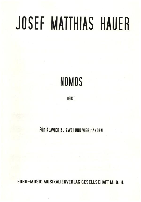 Nomos in 7 Teilen opus.1: für Klavier zu 2 und 4 Händen