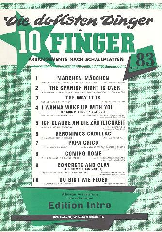 Die dollsten Dinger für 10 Finger Band 83: für Gesang und Klavier