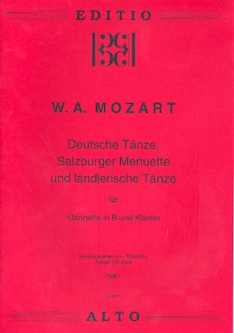 Deutsche Tänze, Salzburger Menuette und ländlerische Tänze Band 1: