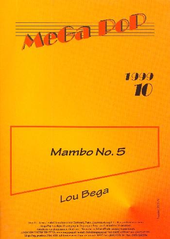 Mambo no.5: Einzelausgabe für Klavier (mit Text)