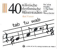 Pfortner, Karl - 40 stilistische rhythmische Bläserstudien :