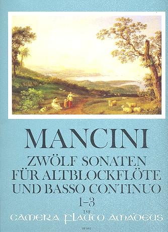 12 Sonaten Band 1 (Nr.1-3): für Altblockflöte (Flöte, Oboe)
