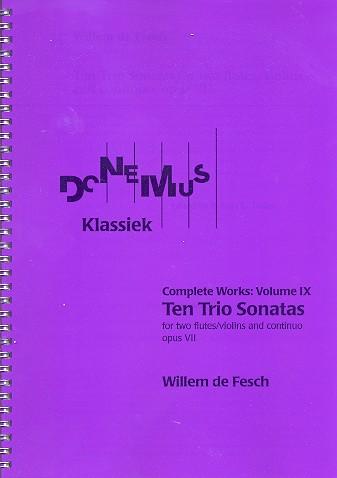 10 Trio Sonatas opus.7: for 2 flutes (violins) and Bc