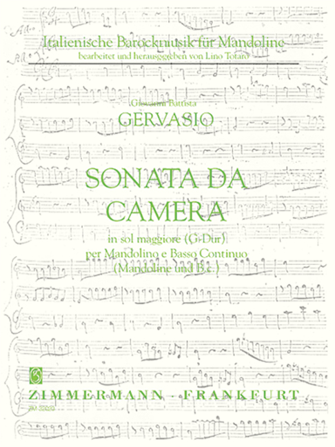 Sonata da camera D-Dur: für Mandoline und Bc