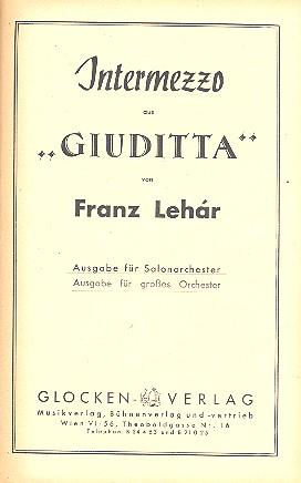 Intermezzo aus Giuditta: für Salonorchester