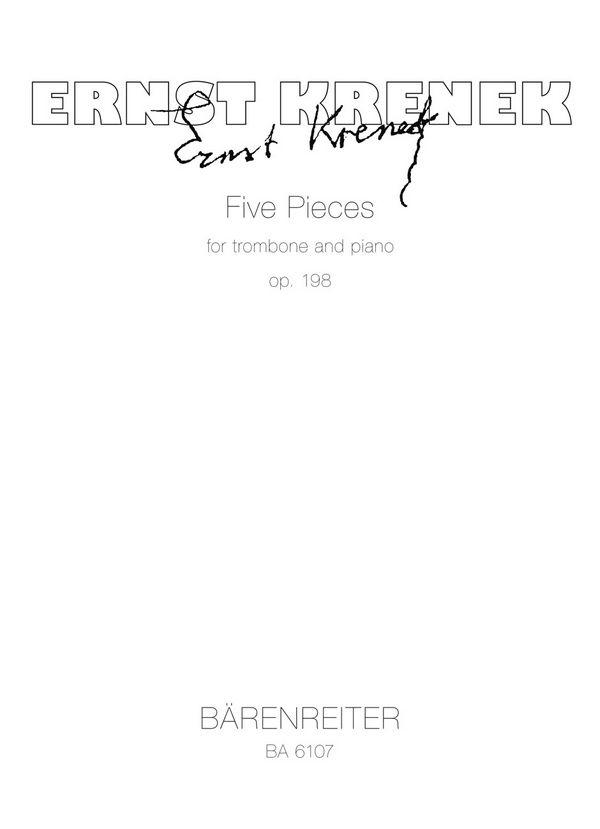 5 Stücke: für Posaune und Klavier Partitur