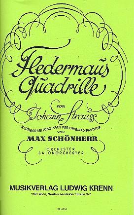 Fledermaus-Quadrille opus.363: für Salonorchester mit