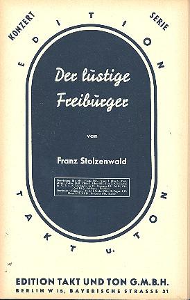 Der lustige Freiburger: für Salonorchester