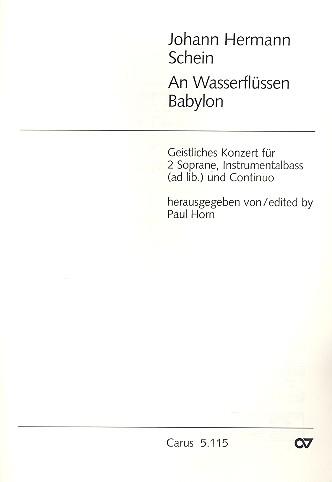 An Wasserflüssen Babylon: für 2 Soprane und Baßinstrument