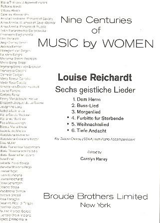 6 geistliche Lieder Set B Nr.4-6: für 4-stg Frauenchor und Bc