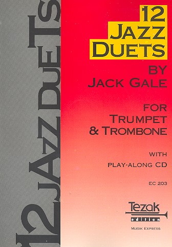 Gale, Jack - 12 Jazz Duets (+CD) : for 2 trumpets