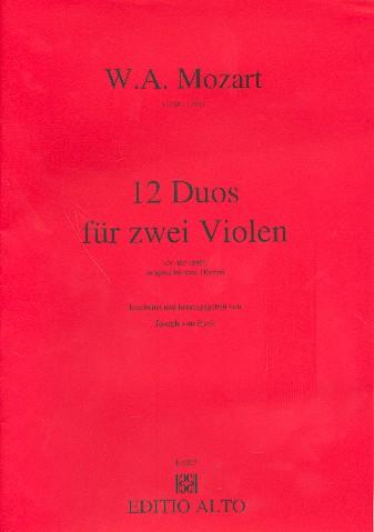 12 Duos KV487: für 2 Violen Partitur
