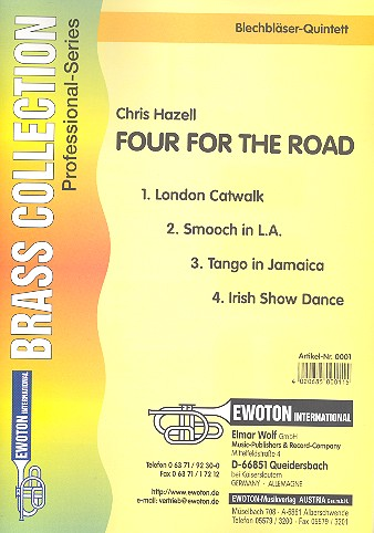 Hazell, Chris - Four for the Road : for brass quintet