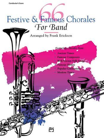 66 festive and famous Chorales for Band: percussion (snare drum, bass drum)