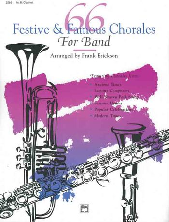 66 festive and famous Chorales for band: clarinet 1