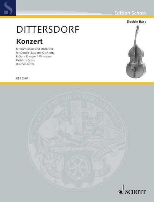 Konzert E-Dur: für Kontrabaß und Orchester