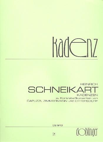 Kadenzen zu Kontrabasskonzerten von Capuzzi, Zimmermann und Dittersdorf: