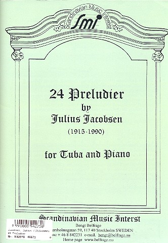 24 preludier: for tuba and piano